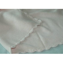 Swaddle Custom Patterns Cotton Knit Baby Blanket With Solid Color