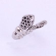 Serpiente retro en forma de anillo de acero inoxidable 316L