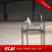transparent clear plastic chair