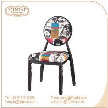 tabourets de chaise en métal de fer coloré avec le dos