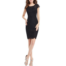 Schwarz sexy Mode Sommer Frauen Kleid