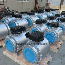 Кованая сталь A105 F304 Конический шаровой кран большого диаметра