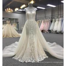 Mais recente vestido de casamento projeta vestidos de noiva sereia sexy 2018