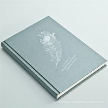 Cahier à couverture rigide de papier d'art de Customzied de vente chaude