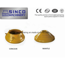 OEM Crusher Wearing Spare Parts Concave and Mantle