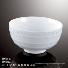 best-selling double line ceramic bowl, dinner set