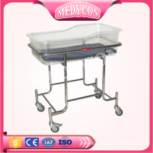 BDB04 High Quality Stainless Steel Baby Bed Hospital Baby Bassinet