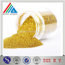 100% pure golden/silver colorful metallized Polyester(PET) Glitter Powder