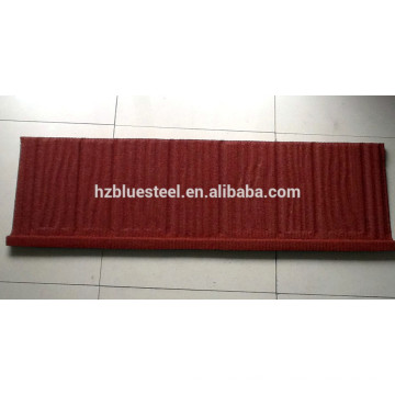 Long Life Wood Shingle Type Hot Sale Aluminium Zinc Stone Chip Coated Metal Roof Tile Sheet For Sale