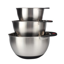 Mixing Bowl Set of 3Stainless Steel Food Container