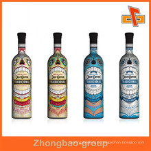 OEM factory heat sensitive fancy customizable shrinkable water proof tamper evident wine bottle neck label with your logo