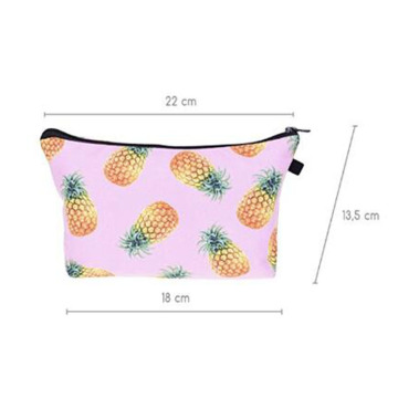 Flower Cotton School Pen Bag atau Tas Kosmetik