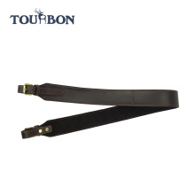 Tourbon new design safari black leather rifle gun sling