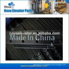 Tipo de piezas de elevador, placa de pestaña para carril de guía mecanizado y fría, guía hueca