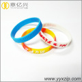 promotional gift embossed silicone rubber bracelets