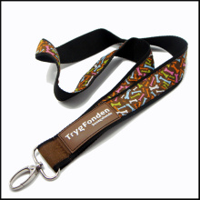 Satin/Silk Woven 3D Silicon Custom Logo Neck Strap Lanyard