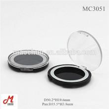 MC3051 Wholesale round windowed empty eyeshadow case