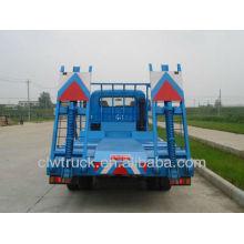 hot sale dongfeng flat transport truck,excavator transport truck