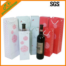 colorful paper bag for wine package