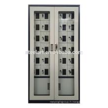 Le matériel en acier complètement assemblé 30 portes mobiles casernes de station de charge de téléphone portable
