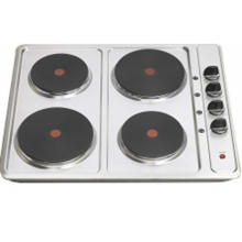 Estufa eléctrica 60cm con 4 placas calientes