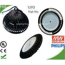 Lámpara de luz alta bahía del LED UFO Industrial UL 240W con disipador de calor grande