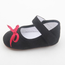 Hot Red Black Kids Ballet Dress Shoes