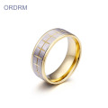 Stainless Steel Two Tone Mens Rings Band
