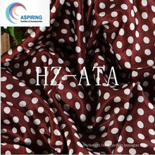 DOT Printing Satin Fabric, Cheap Polyester Satin