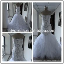 Sweetheart Neckline Mermaid Custom Made Floor Length Formal Bridal Dress Vestidos De Novia BW075 images réelles de robe de mariée
