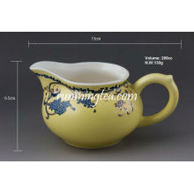"""Sowbread Flower"" Yellow Glaze Porcelain Pitcher, 200cc / jarro"