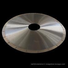 200-400mm Coupe laser à brasage argenté J Slots Diamond Saw Blade