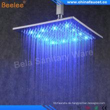 "Beelee 8 ""Messing Square Regen Regen LED Duschkopf"