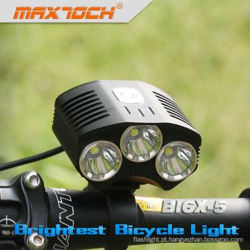 Maxtoch BI6X-5 3000LM 4 * 18650 Pacote Inteligente LEVOU Luz de Freio Da Bicicleta