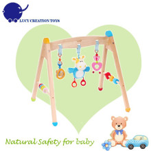 New Eco-friendly Safety Wooden Infant Baby Toy Play Activity Gym