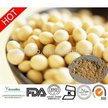 Alta qualidade de extrato de soja Isoflavona em pó, Natural de soja solúvel em água isoflavona 20% 40% 60%