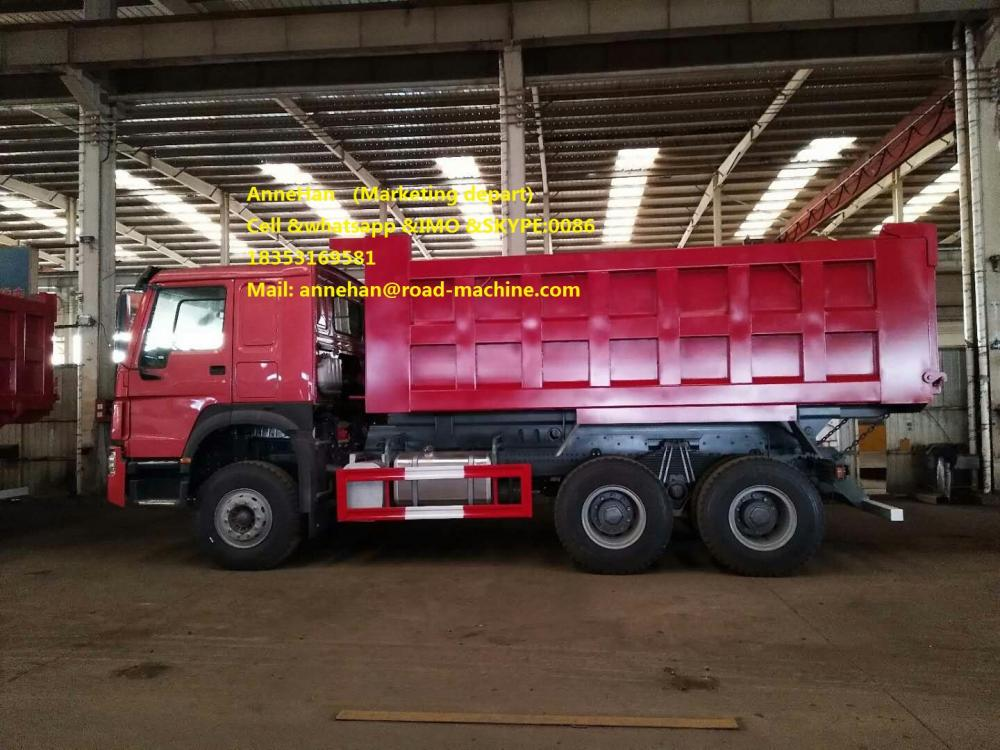 Mid Lifting Dump Truck Red 4