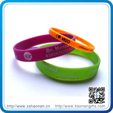 Custom Fashionable Beautiful and High Quality Silicone Wristband