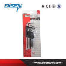 Matt Finish Middle Long 6 Angle Torx Key Set