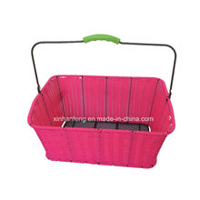 Willow Material Bike Basket with Handle (HBK-147)