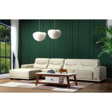 Sofá de couro moderno acessível