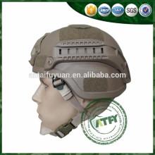 Capacete balístico NIJ IIIA para operação militar com NVG & RAILS