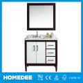Modern Free Standing Solid Wood Bathroom Vanity With Cupc Ceramic Wash Basin