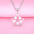 2018 trending product star shaped 925 sterling silver pendant Necklace