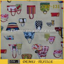 China tela mercado barato por mayor almohadas decorativas tipo bolso de la lona de la tienda
