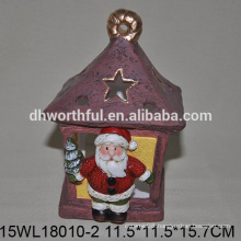 2016 new style ceramic christmas ornaments of standing santa claus