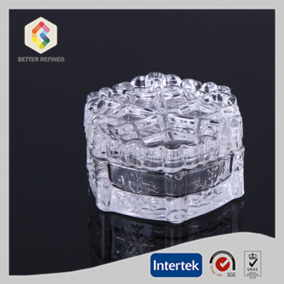 Snowflake clear glass jewel box