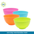 colorful plastic bowl set