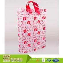 Alibaba Lieferant maßgeschneiderte langlebige und recycelbare pe klare Plastiktüte mit Griff