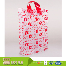 Alibaba supplier custom made durable and recyclable pe clear plastic bag with handle